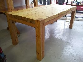 Reclaimed Oregon Pine 8 Seater Dining Table That