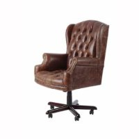 Exceptionnel Wingback Swivel Chair U2013 Aged Leather