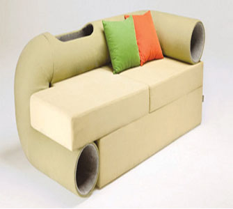 Amazing A Couch With A Play Run For Your Cat